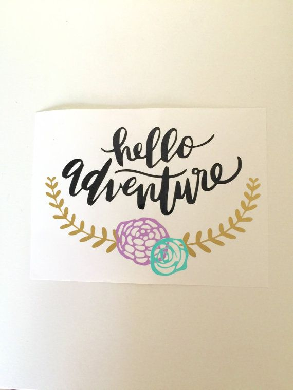 Hello Adventure Vinyl Hydro Flask Decal By