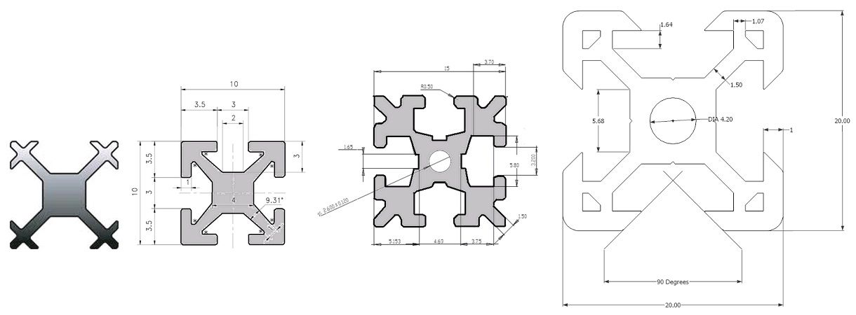 V slot dimensions