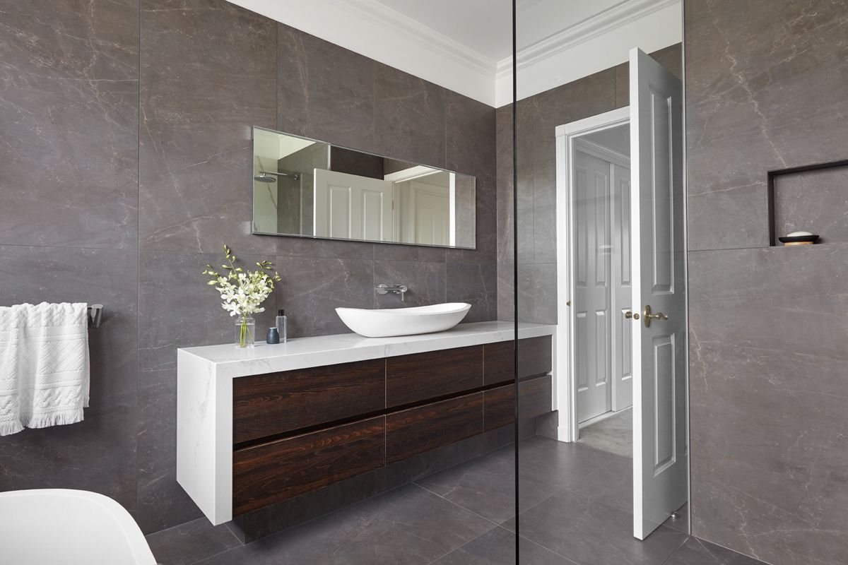 we love the colour combination in our essendon bathroom on bathroom renovation ideas melbourne id=96033