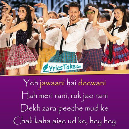 The Jawaani Song Lyrics Student Of The Year 2 Hindi Song Status