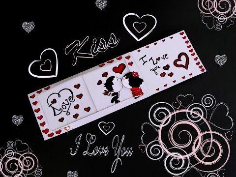 Diy Love Slider Card Tutorial Valentine S Day Card Ideas Diy Card Youtube Slider Cards Simple Cards Handmade Valentines Day Cards Handmade