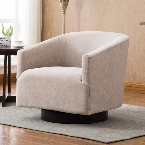 Chaplin Swivel Barrel Chair Swivel Barrel Chair Barrel Chair Modern Furniture Living Room