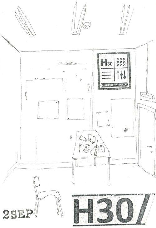 Drie maanden te gast in beeldend atelier van H30 - Artist in Residence