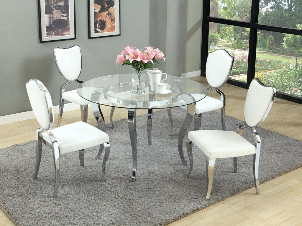 2019 Kitchen Table And Chairs Sets Between Functionality And Aesthetic Appeal Glass Round Dining Table Round Glass Dining Room Table Round Dining Table Sets