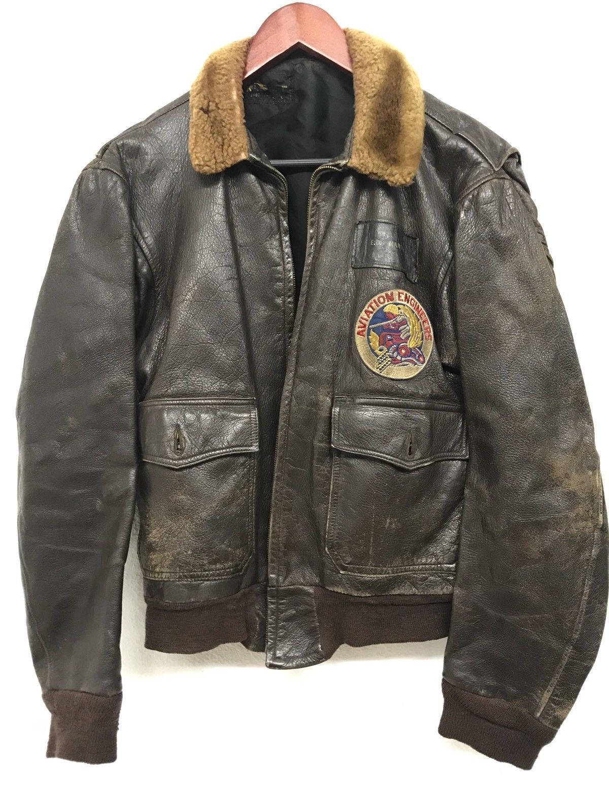 c0f408f2a WW2 Aviation Engineers Named Leather Jacket in 2019 | Bomber Jackets ...