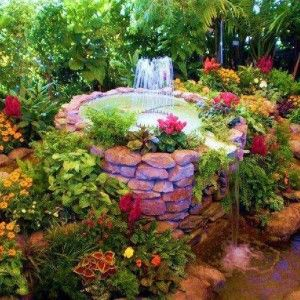 Flower Amazing Landscaped Gardens With Fountain 300x300