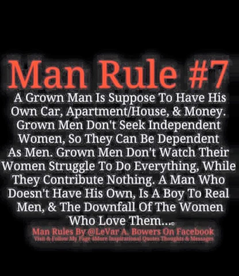 Ain't nothing like having your own. ManRule57 Man rules