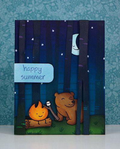A Summer Night Card + Sneak Peeks!