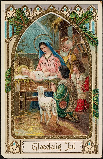 (Merry Christmas) Glædelig Jul, ca 1912 by National Library of Norway, via Flickr