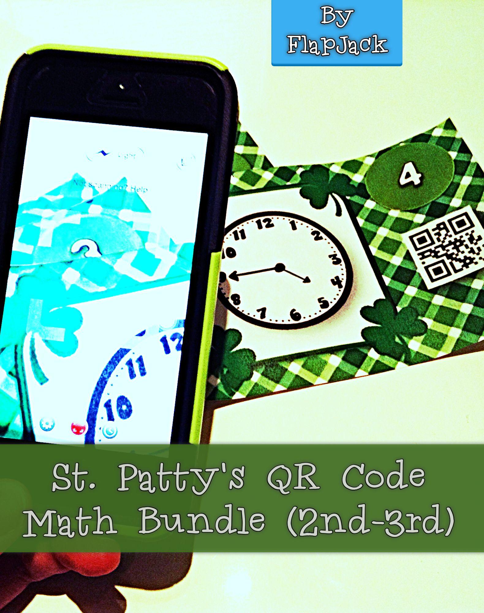 St Patrick S Day Math Fun Qr Code Task Card Bundle 2nd 3rd Grade