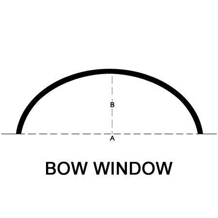 custom bow window traverse rod