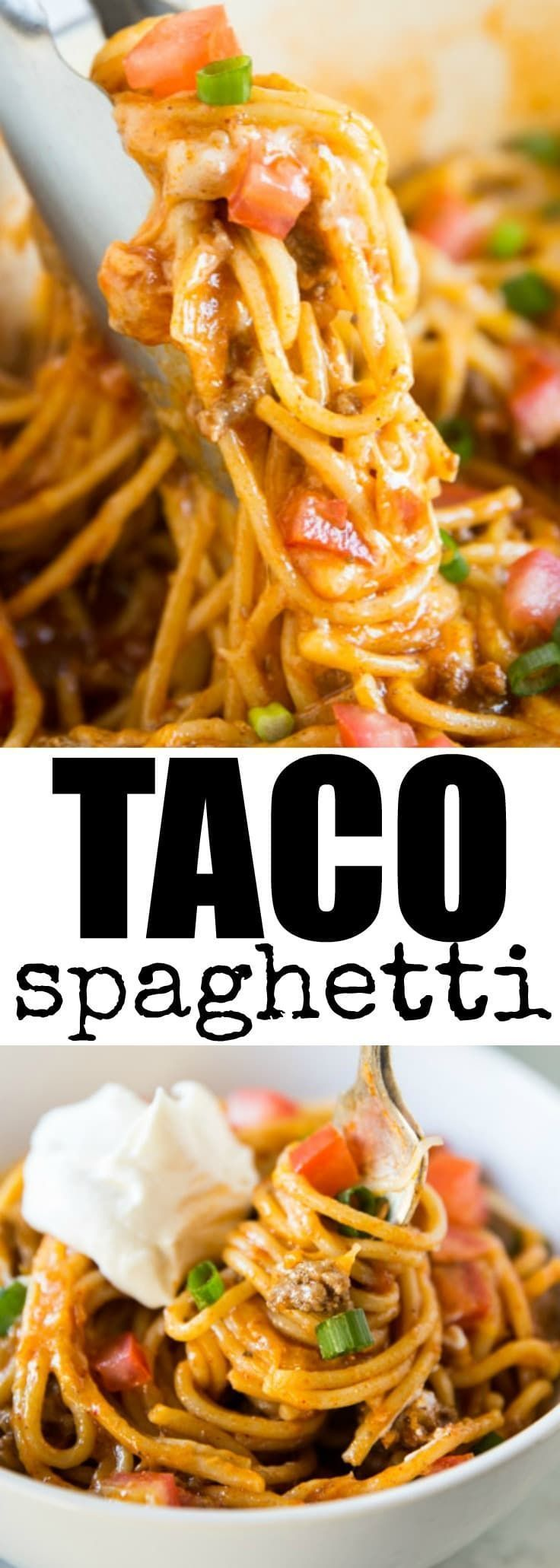One Pot Taco Spaghetti Recipe | Culinary Hill