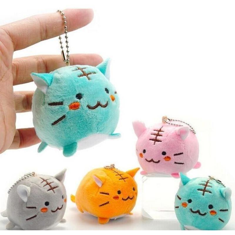 Multiple Colors  Pip Kawaii Cute Tiger Cat Plush Doll//Key Chain