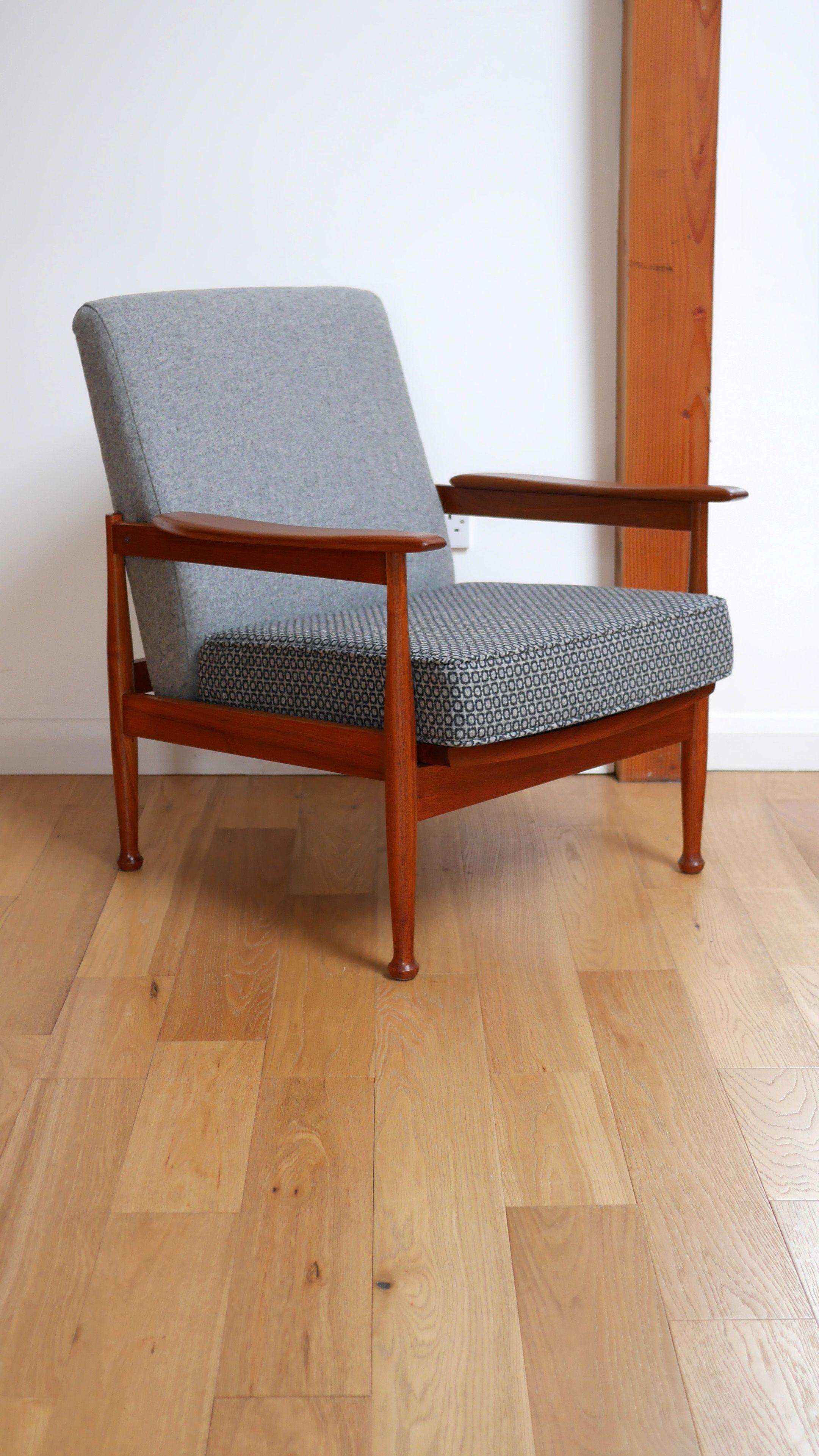 Prime Guy Rogers Manhattan Teak Reclining Armchair C 1962 Machost Co Dining Chair Design Ideas Machostcouk