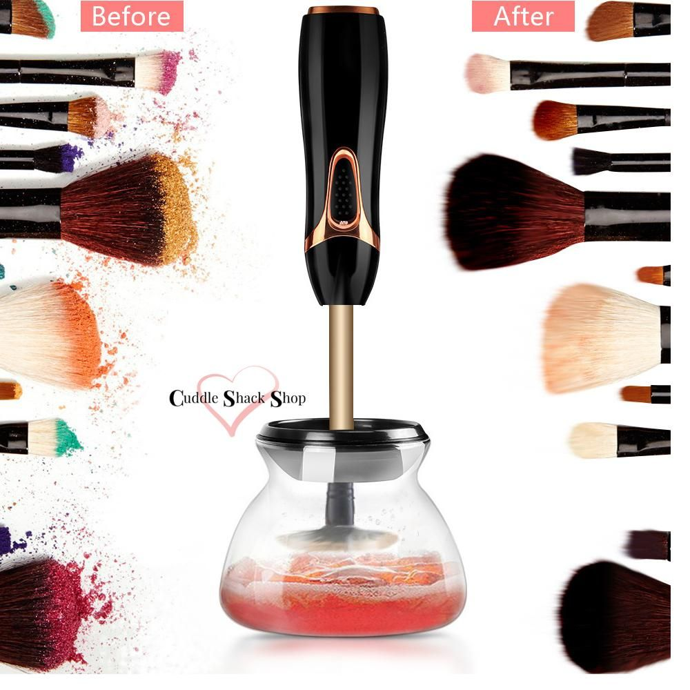 Makeup Brush Cleaner and Dryer Machine (Black) by Cuddle