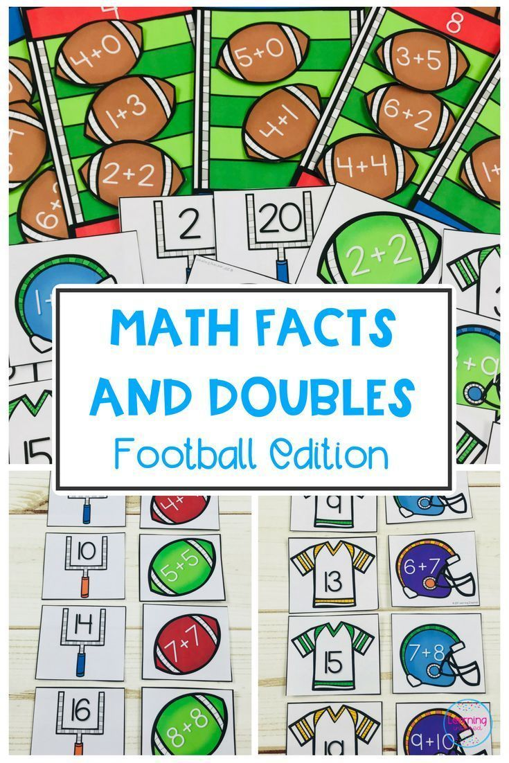Math Facts and Doubles | Math facts, Fun math and Math
