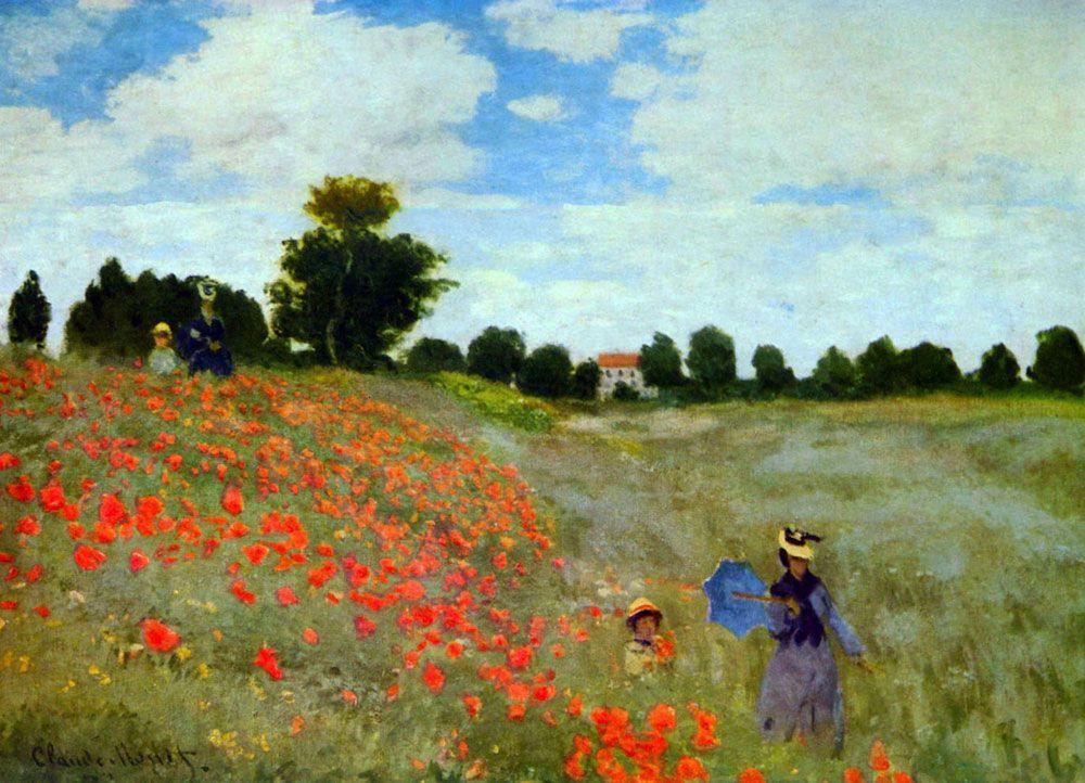 Claude Monet    Argenteuil'de Gelincikler / Poppies at Argenteuil    1873. Tuval üzerine yağlıboya. 50 x 65 cm. Musée d'Orsay, Paris.
