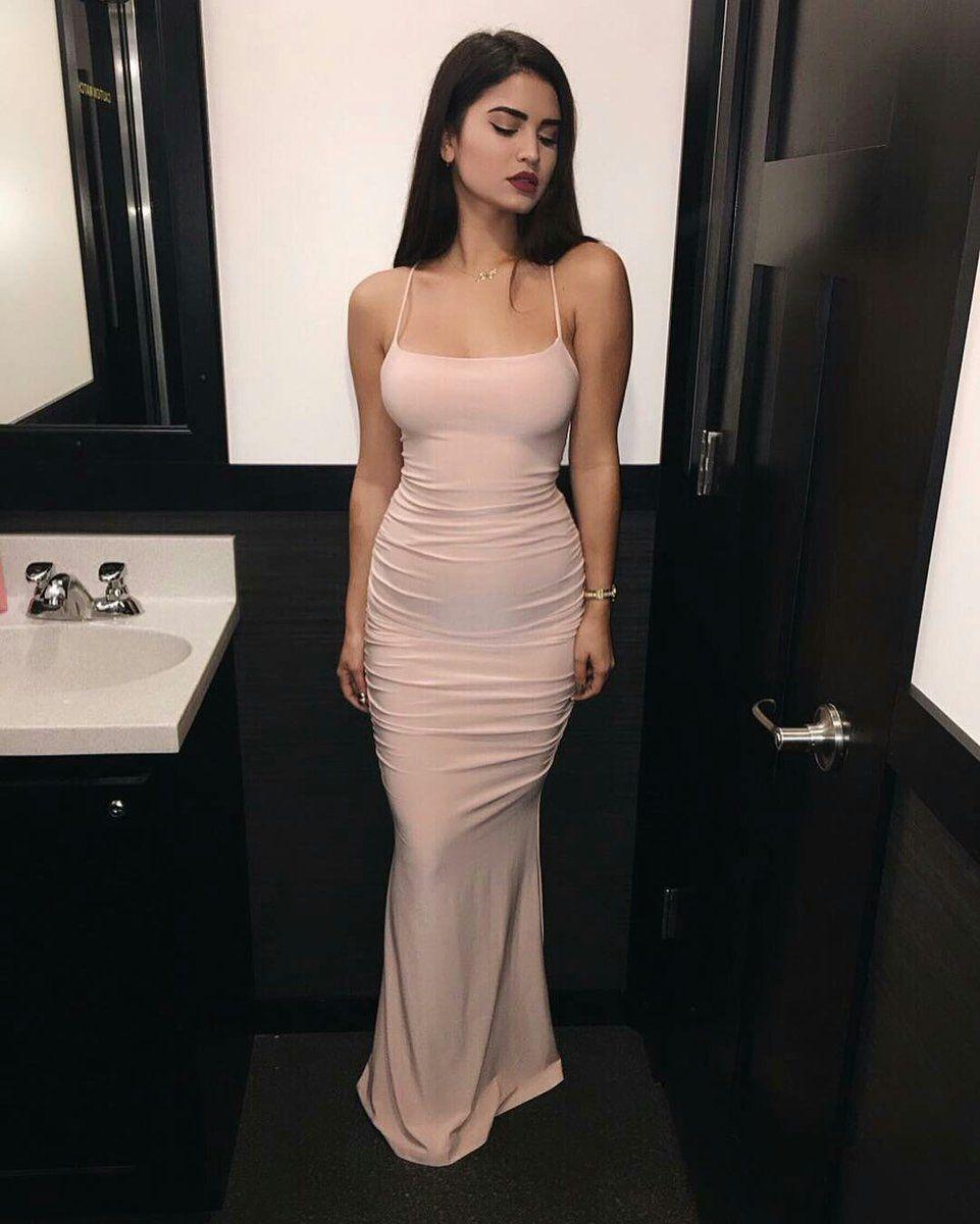 Spaghetti prom dressmermaid prom dressfashion prom dresssexy