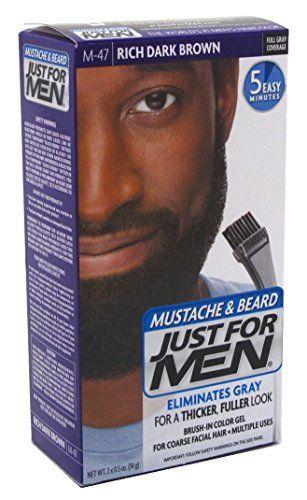 Just For Men Mustache Beard M47 Rich Dark Brown 6 Pack ** Visit ...