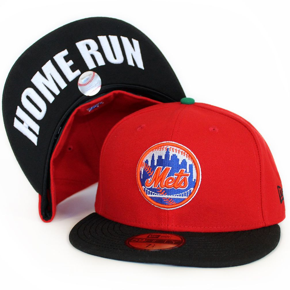 e6ecd690 Mets Home Run Apple Hat The 7 Line | New York Mets | Fitted baseball ...