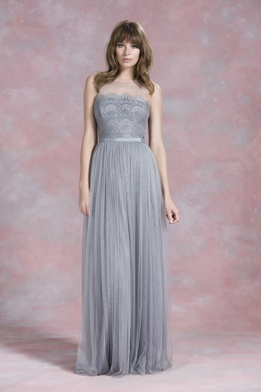 Graues langes Kleid für Trauzeugin oder Brautjungfer – von Kelsey