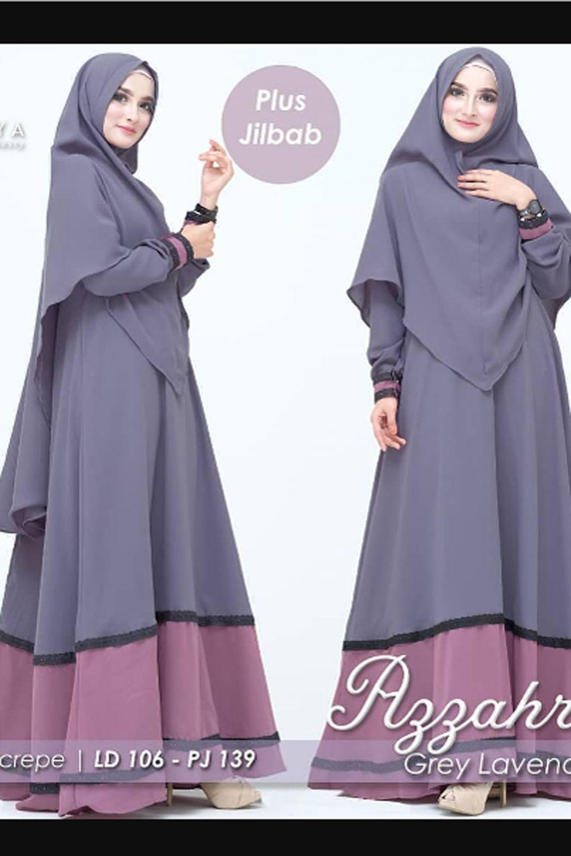 JeduaStore Azzahra Syari Set Khimar Baju Gamis Wanita Terbaru