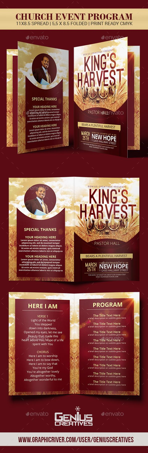 KingS Harvest Church Program Template  Harvest Church Program