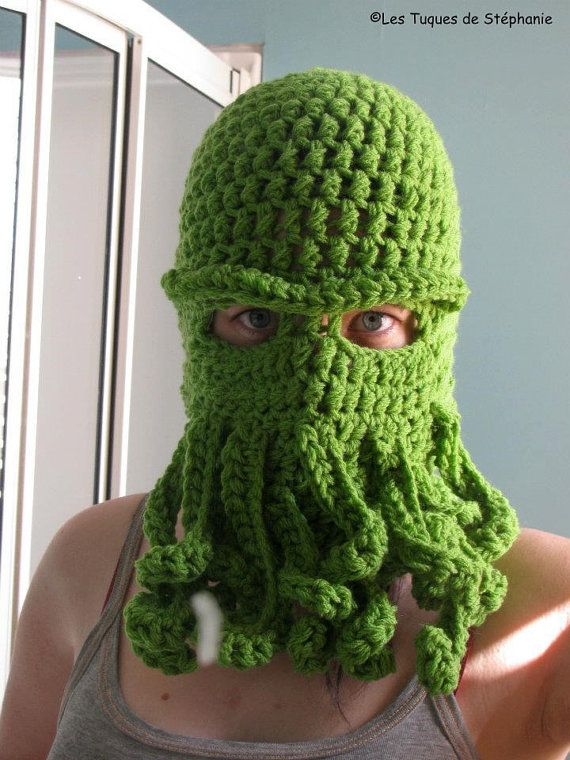 Crochet PATTERN balaclava sea monster Cthulhu inspired, crochet ...