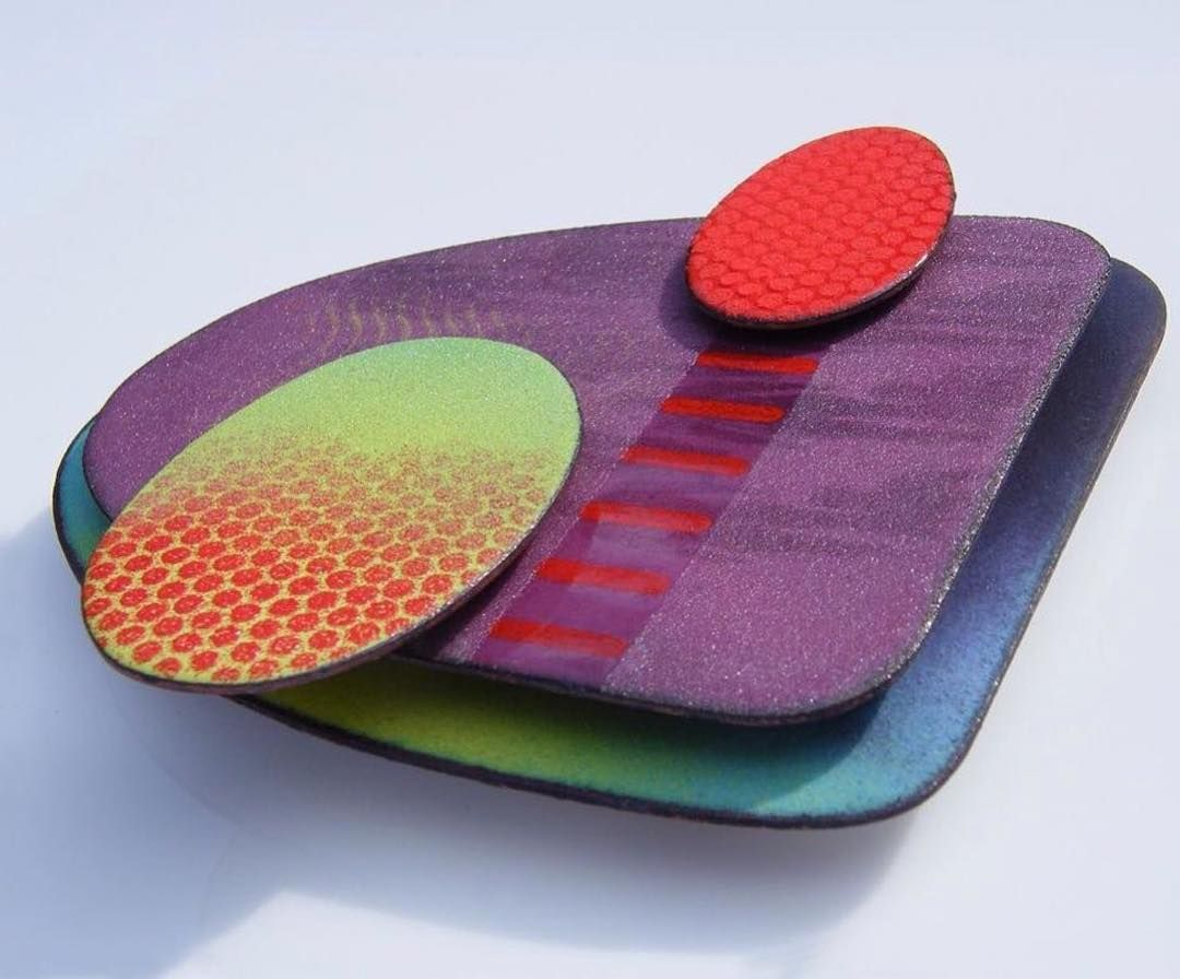 Gorgeous Enamelled Brooch By Ruth Ball Jewelleryactivist