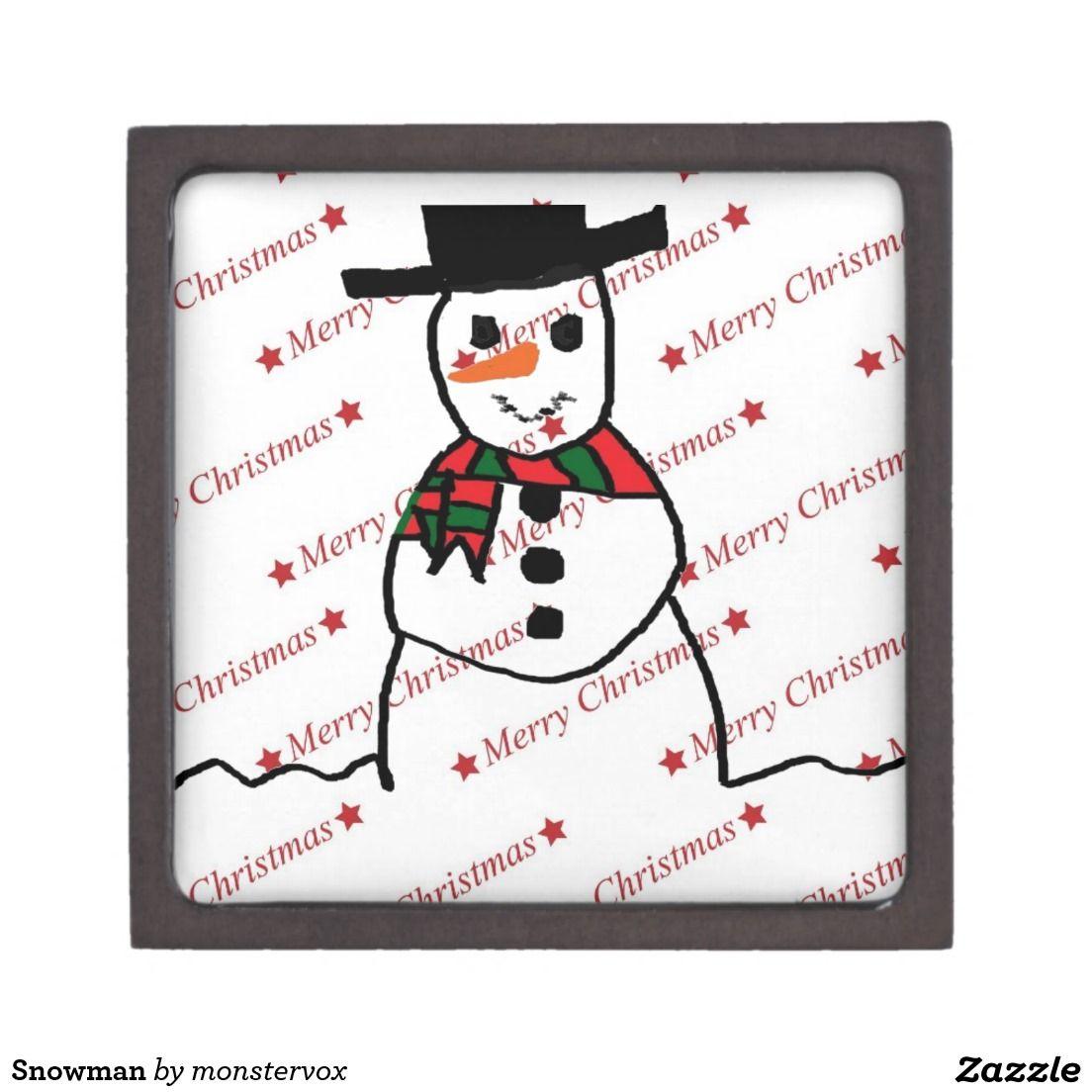 Snowman Keepsake Box #Snowman #Snow #Snowflake #Winter #Holiday #Christmas #Jewelry #Keepsake #Trinket #Gift #Box