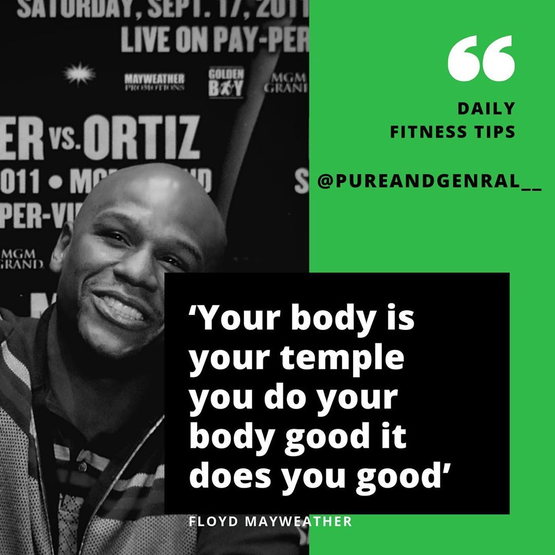 Fitness quote coming in from the 50-0 Undefeated King @floydmayweather One of the best athletes and...