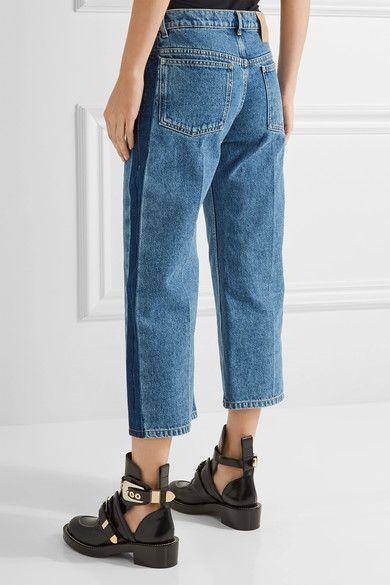 0fbfb17a1e09 Balenciaga - Rockabilly Cropped Low-rise Wide-leg Jeans - Light denim