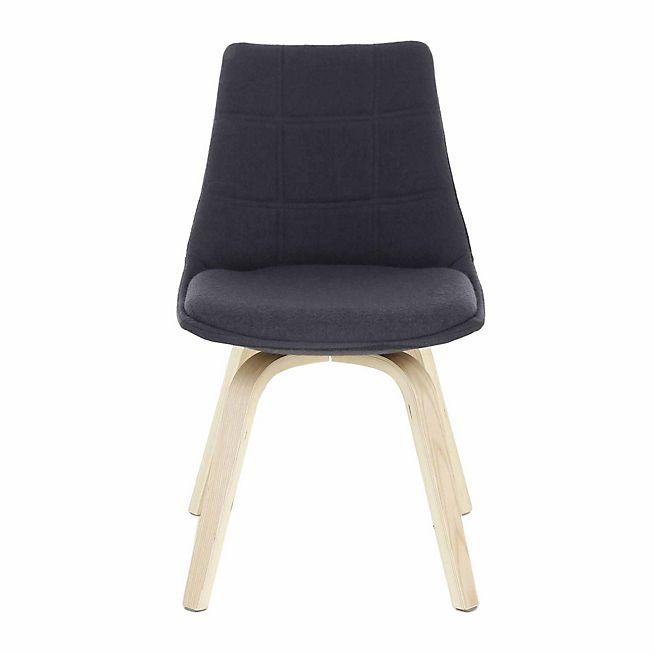 Joy Chaise Grise Avec Pietement Chene Design Scandinave Chaise Grise Mobilier De Salon Meuble Deco