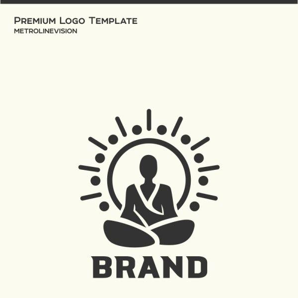 meditation logo template 73954 in 2020 logo templates templates logo concept pinterest