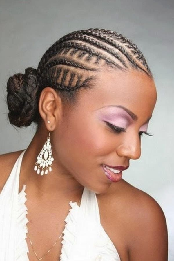 Catalogue Coiffure Africaine Cheveux Laches Et Chignon Avec Tresses Coiffures 2015 Hair Styles Braided Hairstyles Cornrow Hairstyles