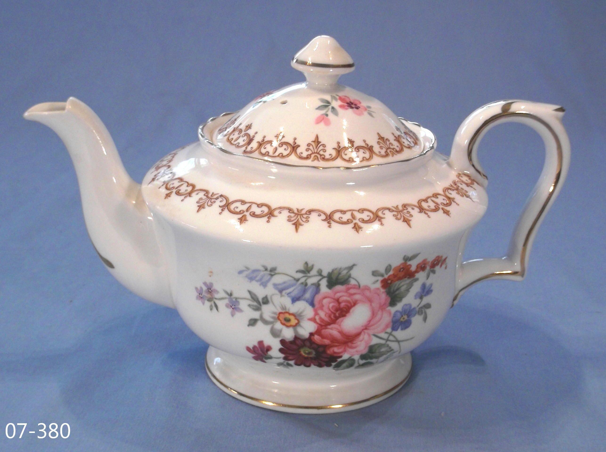 Crown Staffordshire Floral Bouquet Tea Pot Crown
