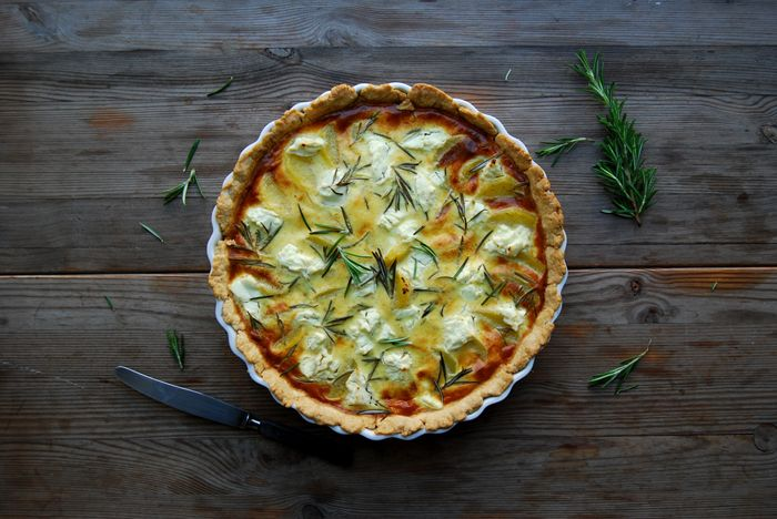 Potato, Chèvre and Rosemary Tart : eat in my kitchen