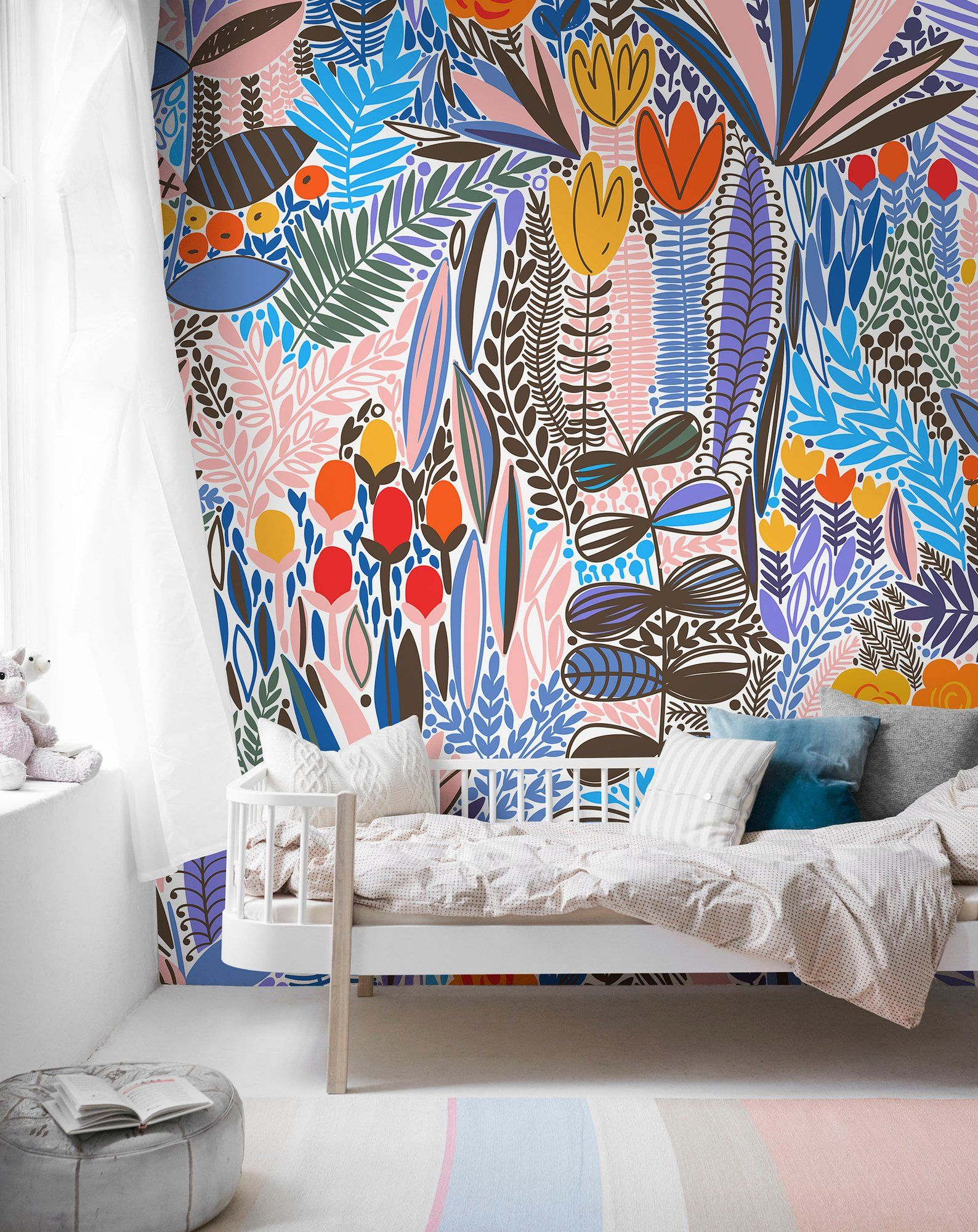 Cute Floral Wallpaper, Floral Wallpaper, Nursery Wallpaper
