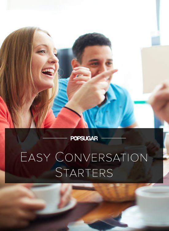 Dating conversation starters random best online