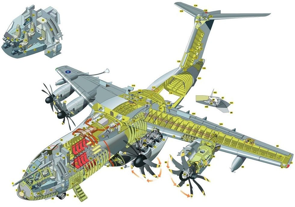 Cutaway Drawing of the recently released A400M aircraft