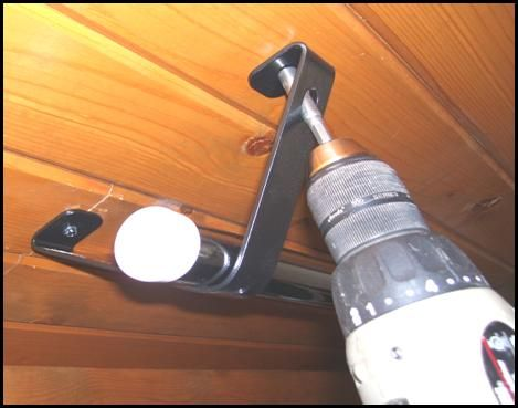 Angled Ceiling Brackets To Hold Rod To Hold Spools Of Cording. May Not Get  Rod