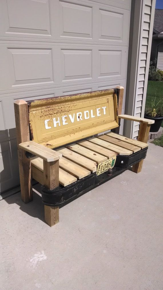 Chevrolet Stepside Tailgate Bench With Bumper By Tailgateguy Tailgate Bench Furniture Projects Diy Furniture