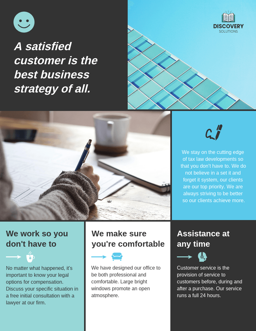 sectional business flyer dive into the details of your business