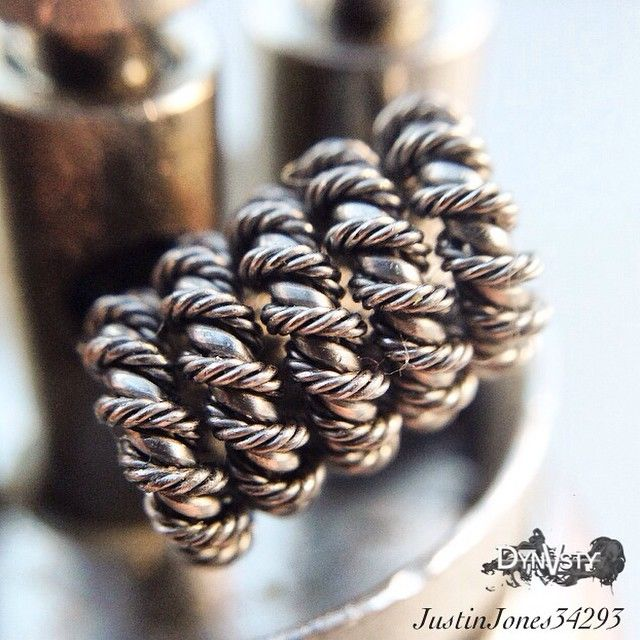 2 strands of 24 gauge spiral wire helixed with 4 strand 32 gauge ...