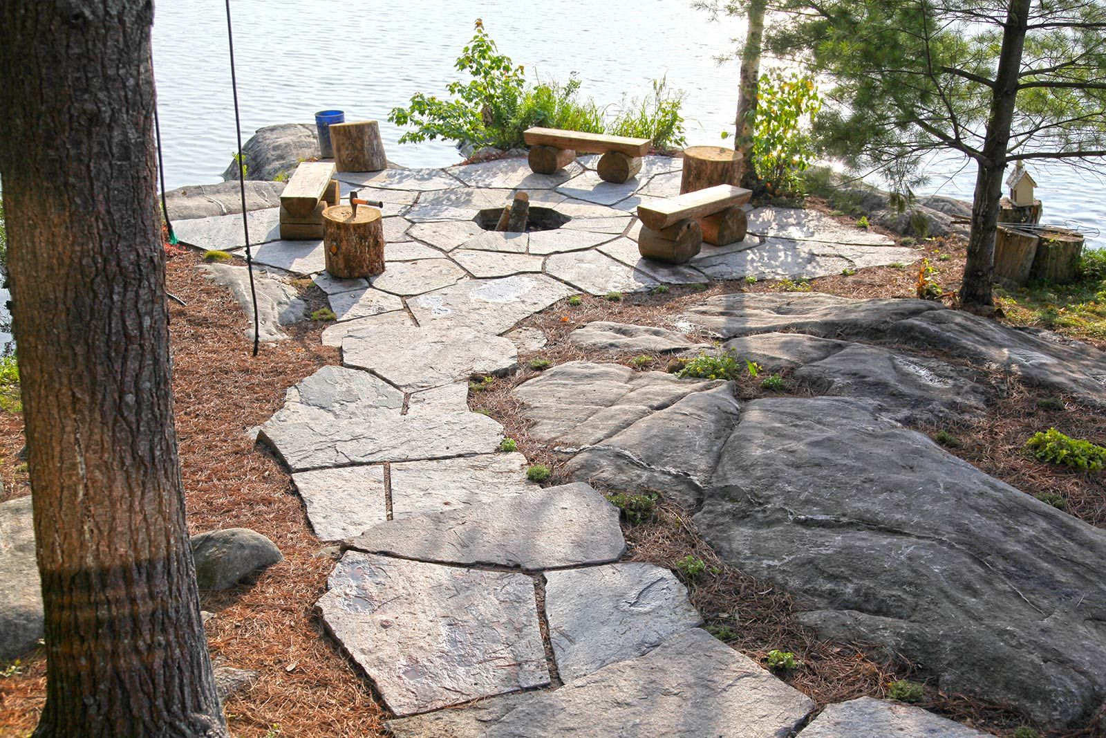 waterfront firepit … | Outdoor fire, Rustic fire pits ... on Waterfront Backyard Ideas id=27067