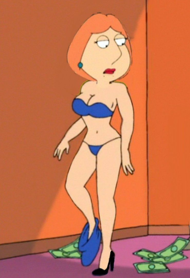Lois In Blue Underwear