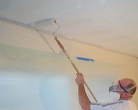 How To Remove A Popcorn Ceiling. Using A Paint Roller Soaked In Water Works  Really