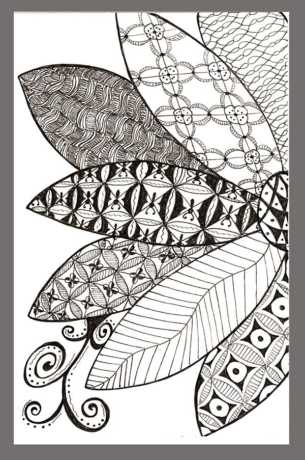Pin de Miriam Morcique en Diseños zentangle | Pinterest | Hoja ...
