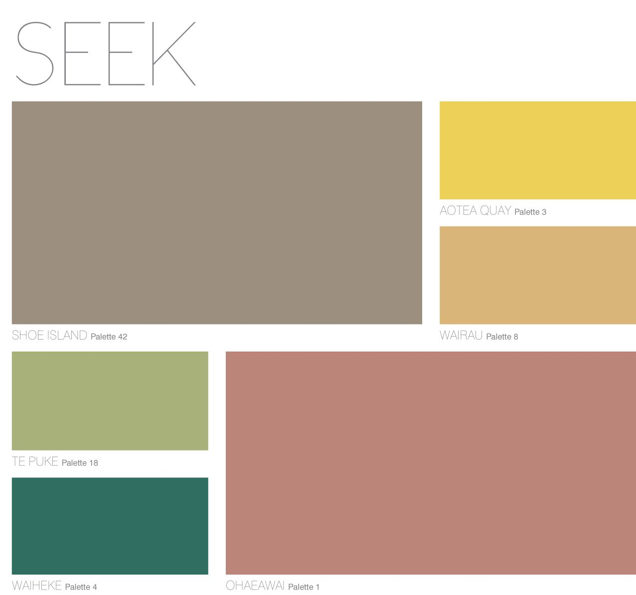 SEEK Palette from Dulux Colour Forecast 2013 | Dulux Colour Forecast ...