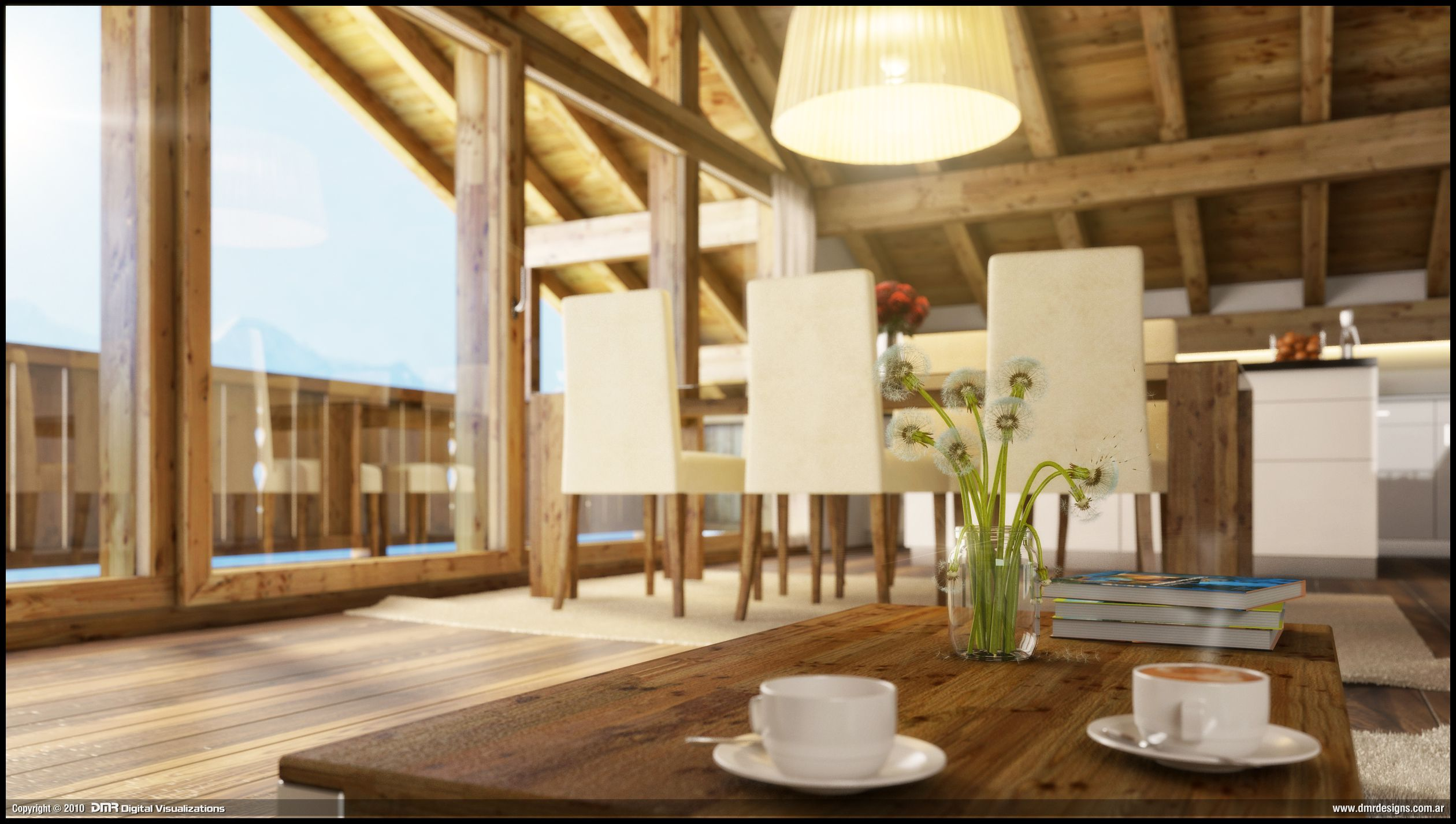 Fantastic Wood House Interior Close Up By Diegoreales 1